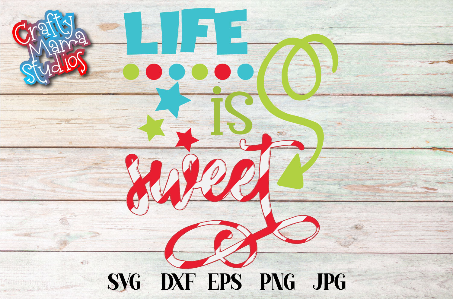 Life Is Sweet SVG, Christmas Sign Sublimation example image 2