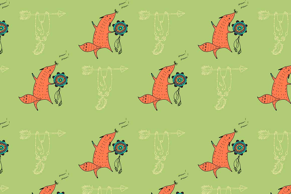 Fox personages and patterns example image 4