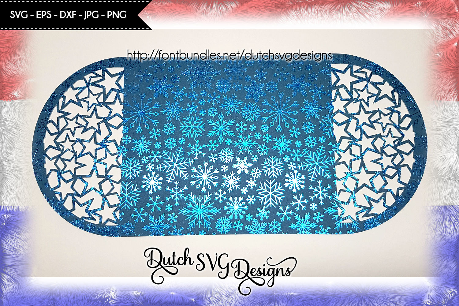 Blank card cutting file with stars, card svg, christmas card example image 3