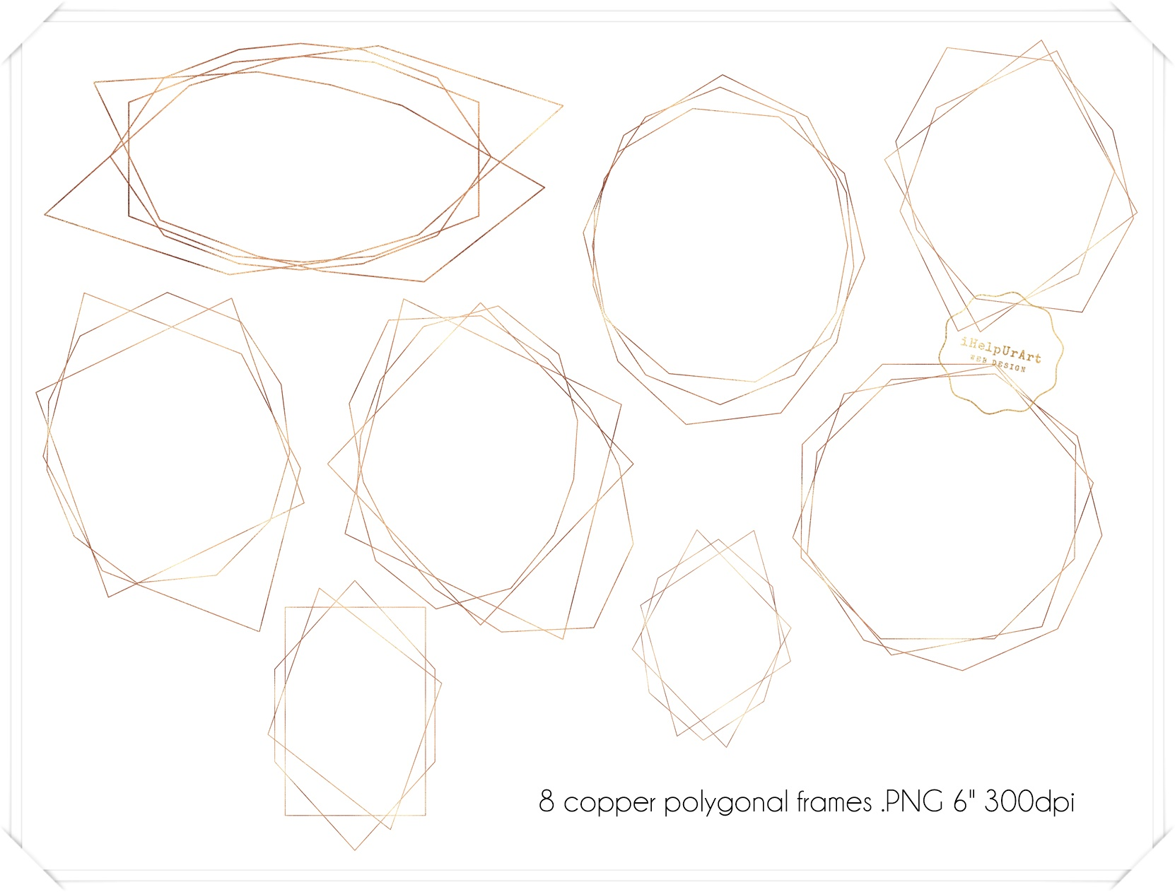 Copper and Watercolor Design Kit example image 7