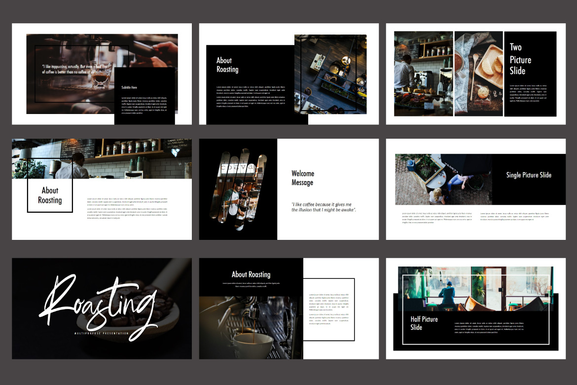 Roasting - Creative Keynote Template example image 3