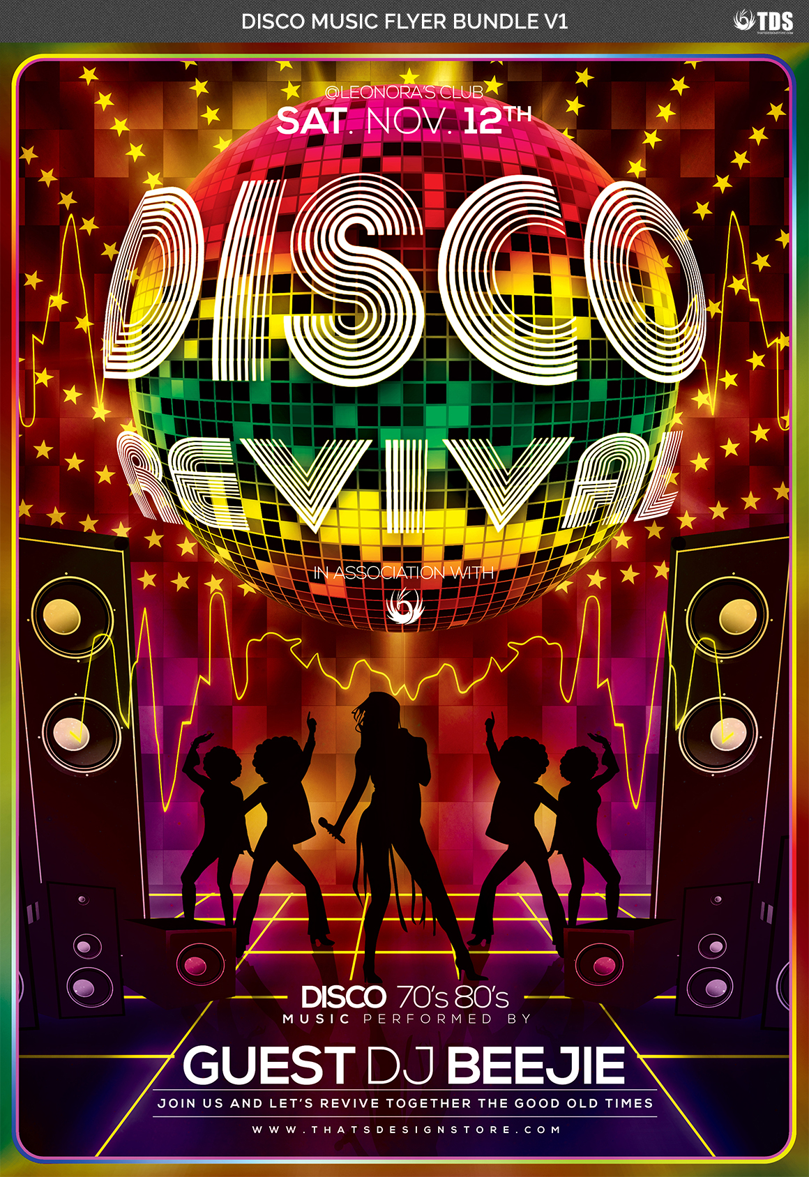 Disco Music Flyer Bundle V1 example image 7