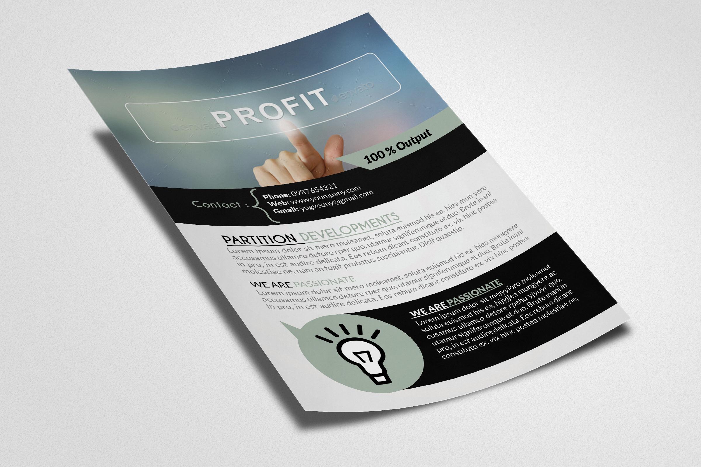 Business Profit Idea Flyers example image 2