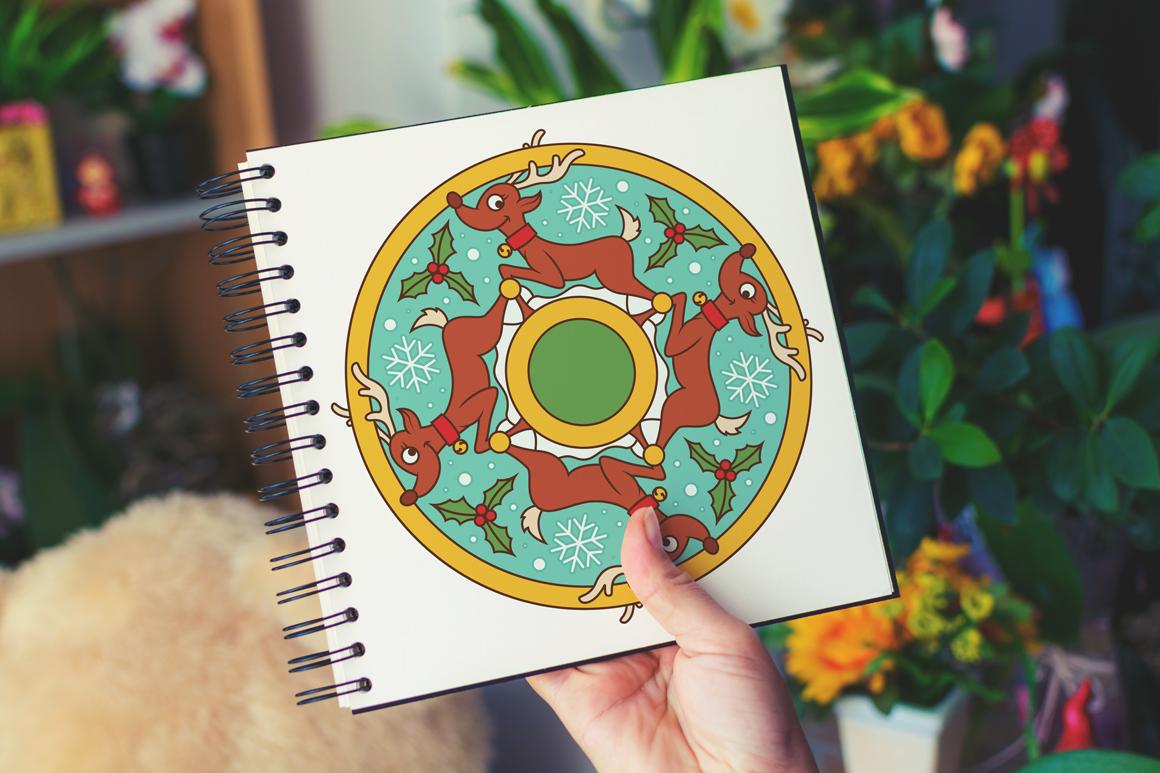100 Christmas Mandala Ornaments example image 15