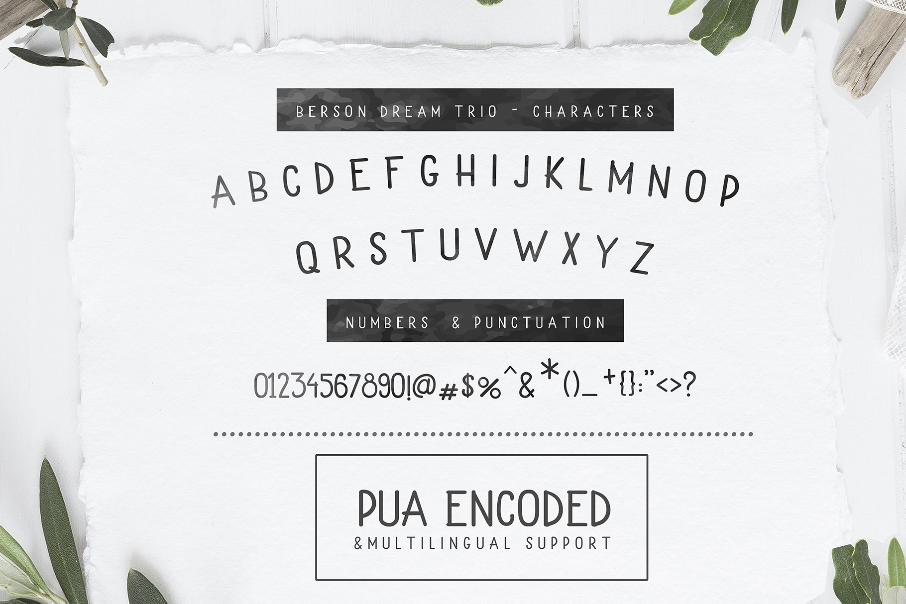Berson Dream Font TRIO and extras example image 10
