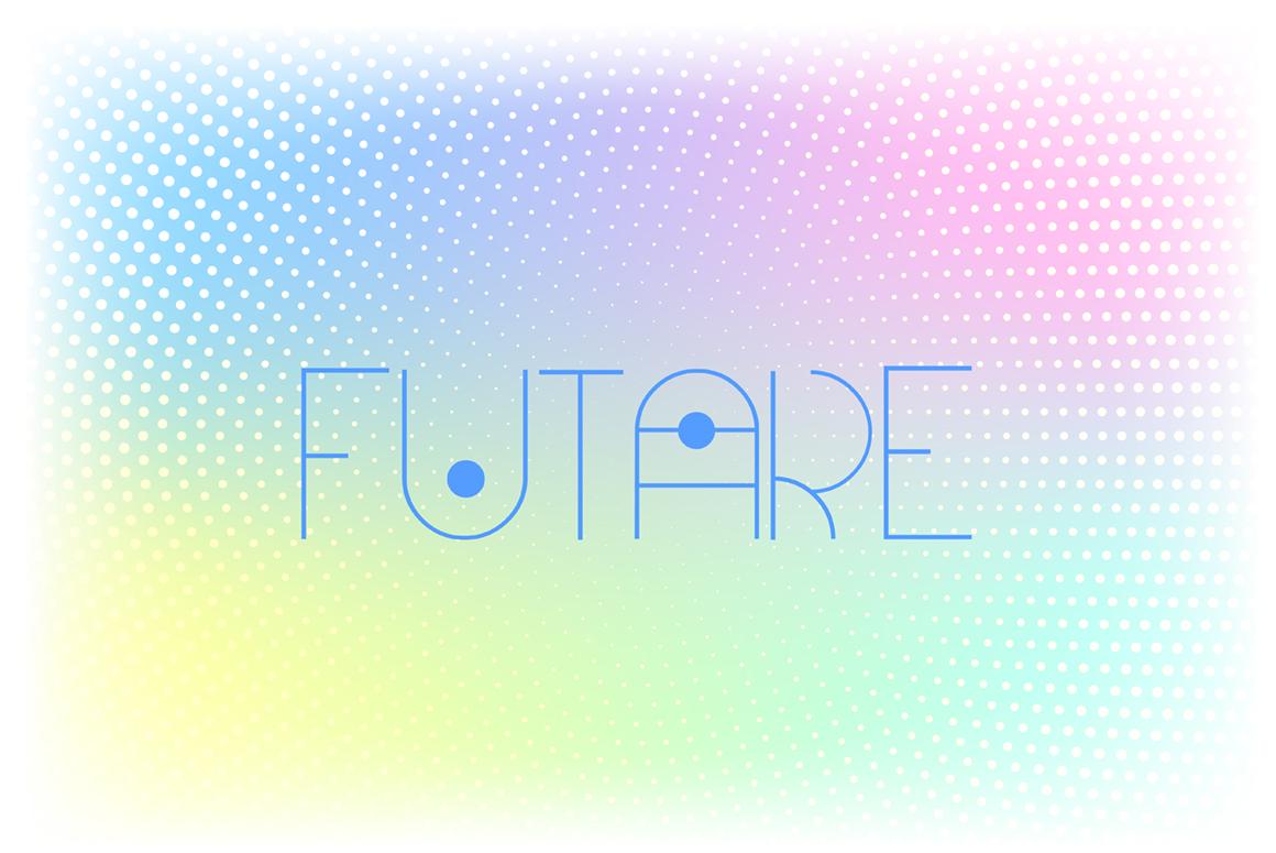 Futare - Thin Futuristic Capital Font example image 2
