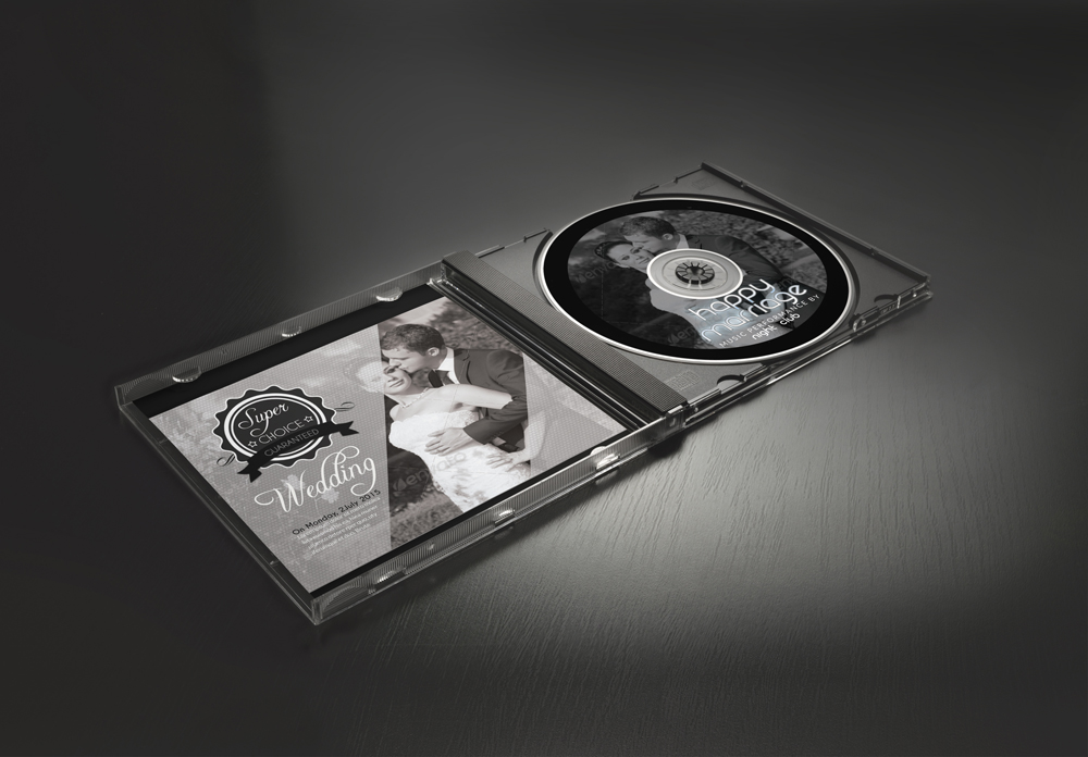 Wedding CD Cover Template example image 3