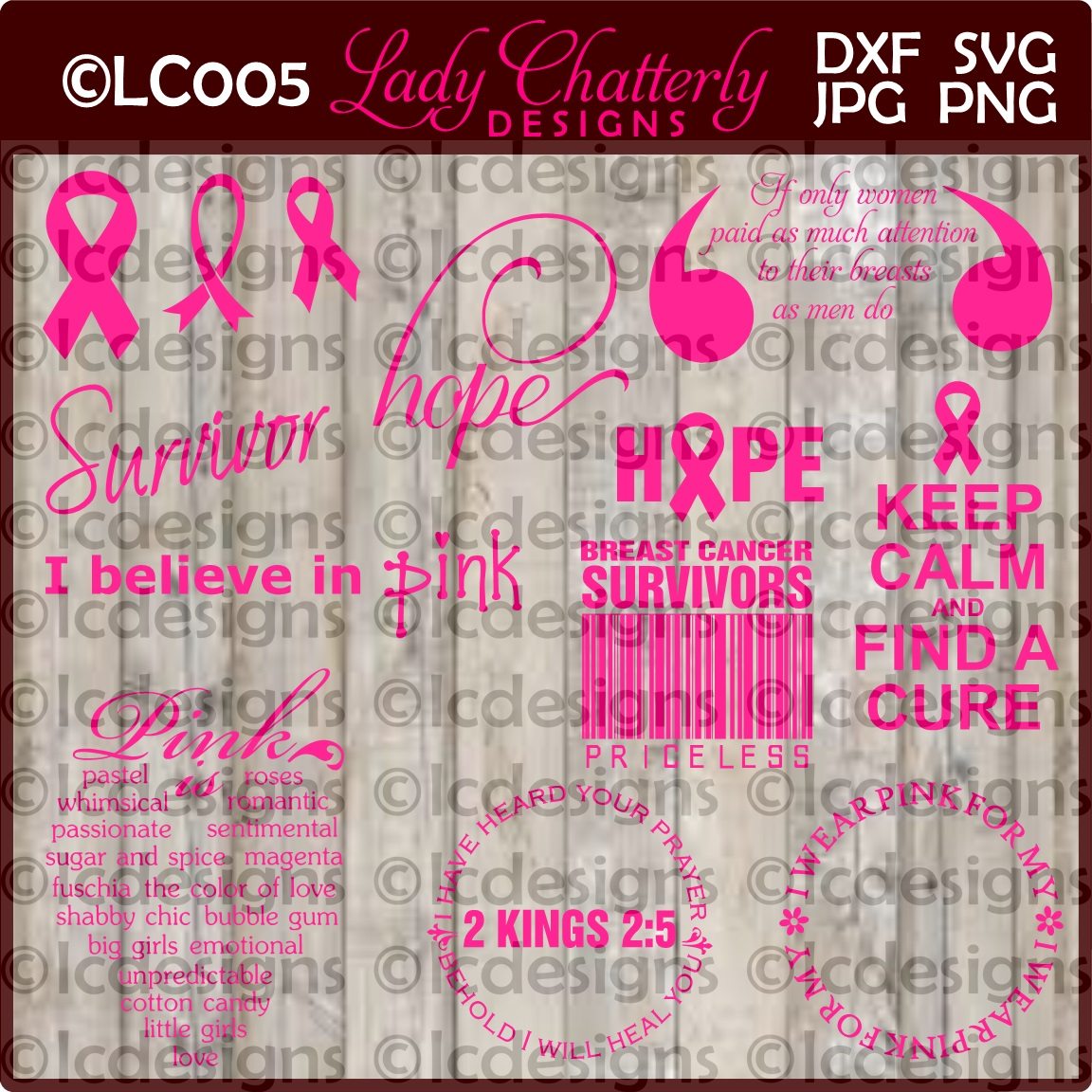 LC005 - Breast Cancer Designs example image 1
