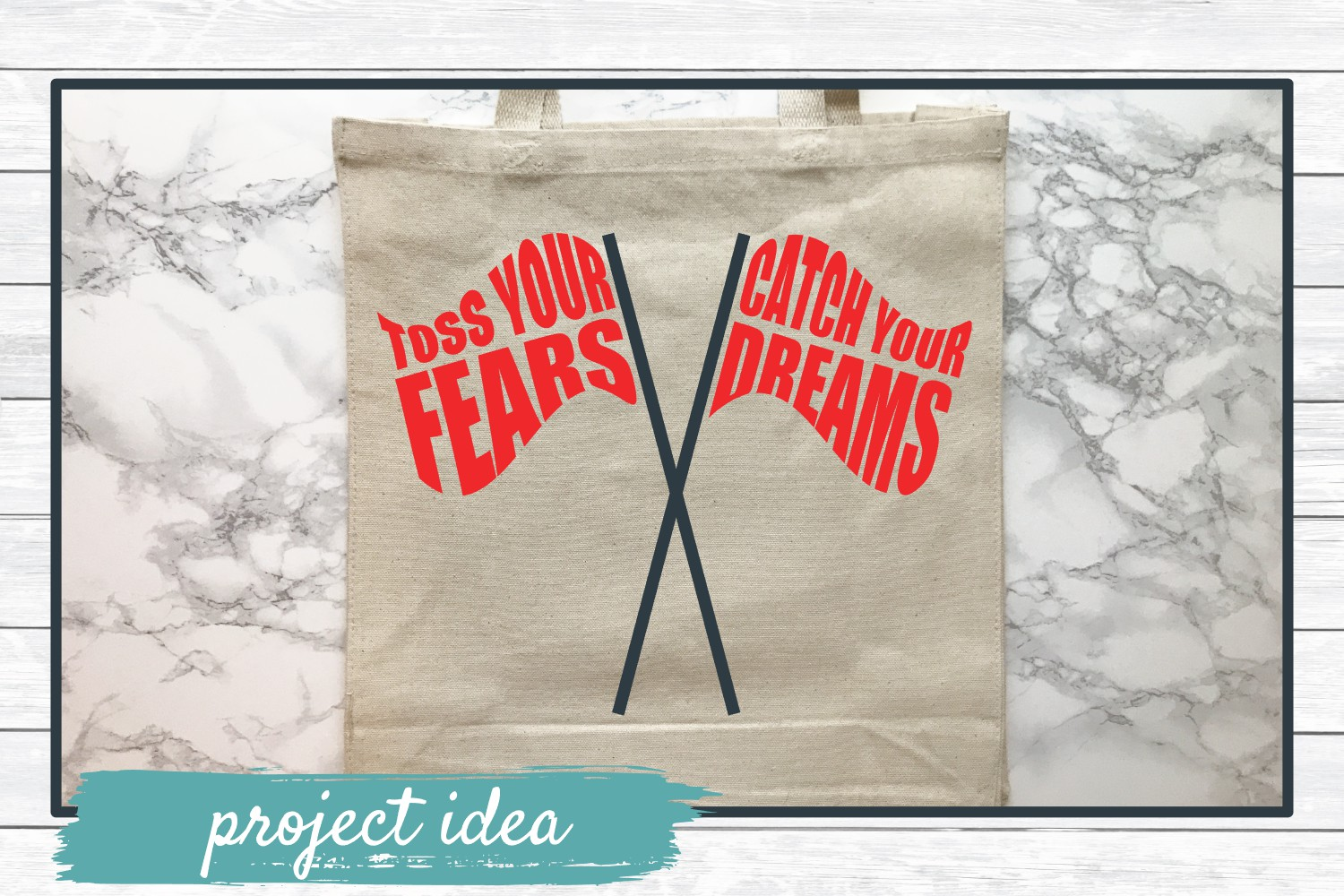 Toss Your Fears Catch Your Dreams, Color Guard SVG Cut File example image 2