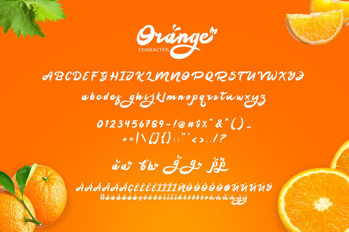 Orange Squash Script example image 8