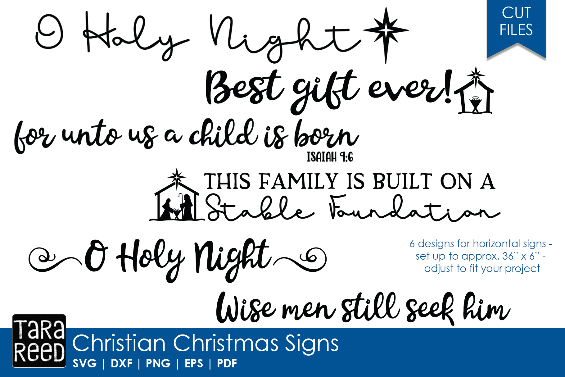Christian Christmas MEGA Bundle - SVG Files for Crafters example image 2