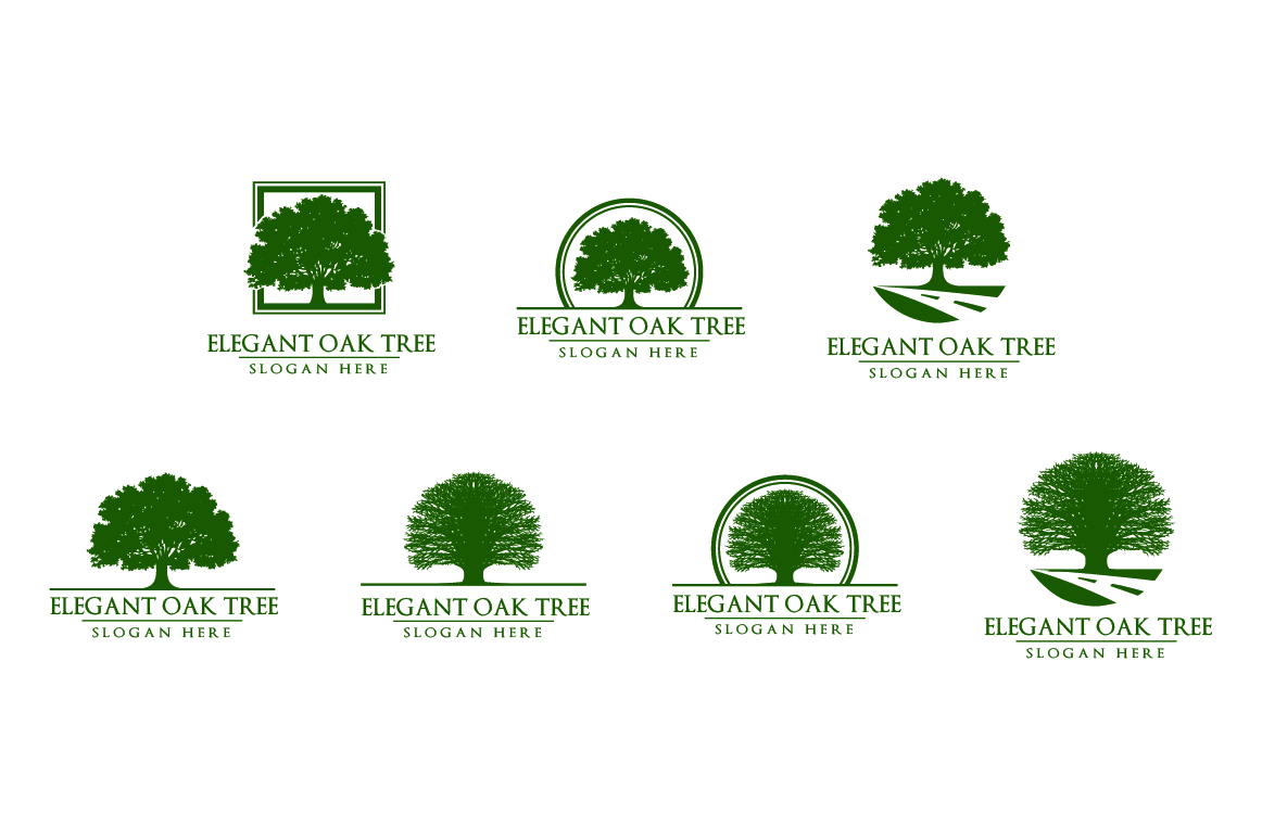 Green oak tree logo vol 1 example image 1