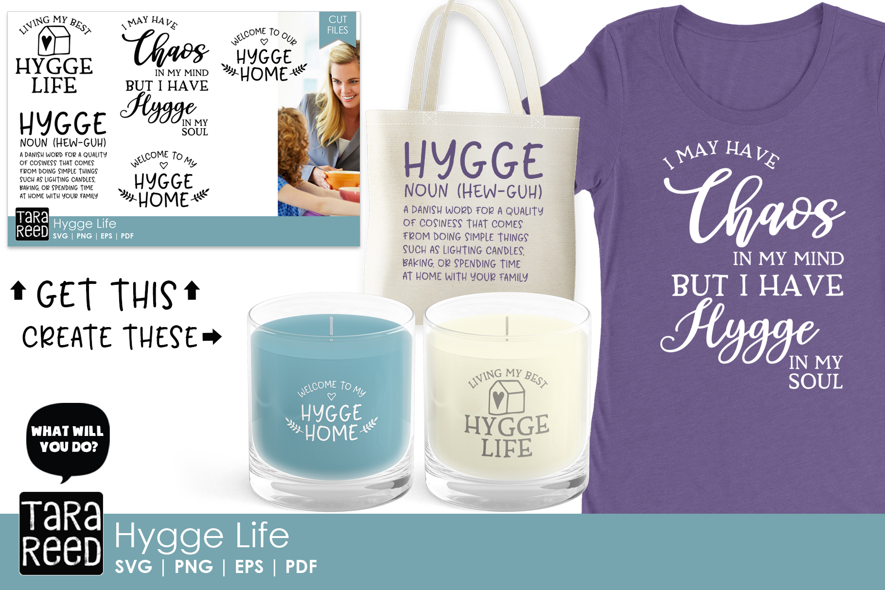 Hygge SVG and Cut Files for Crafters example image 2