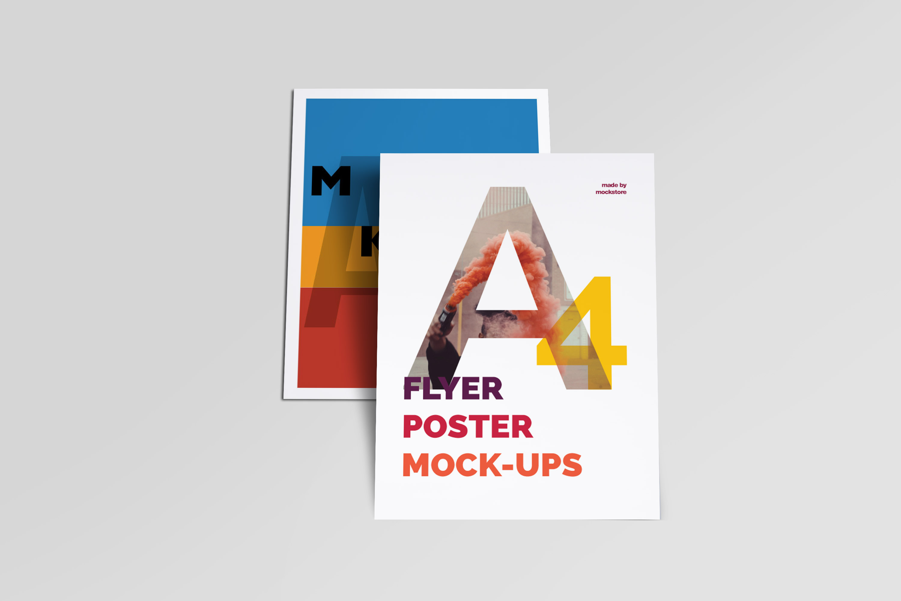 A4 Flyer / Poster Mockups example image 4