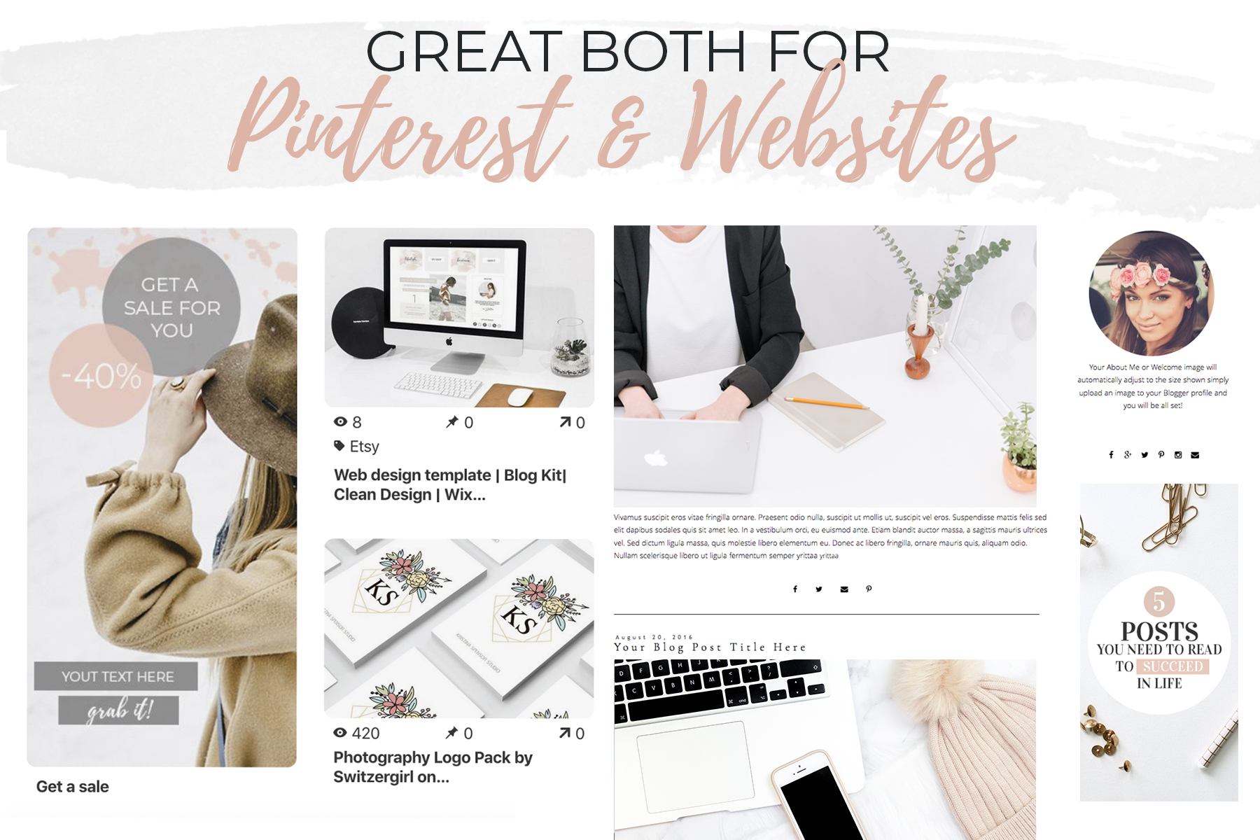 10 Banners for Blog or Pinterest example image 3