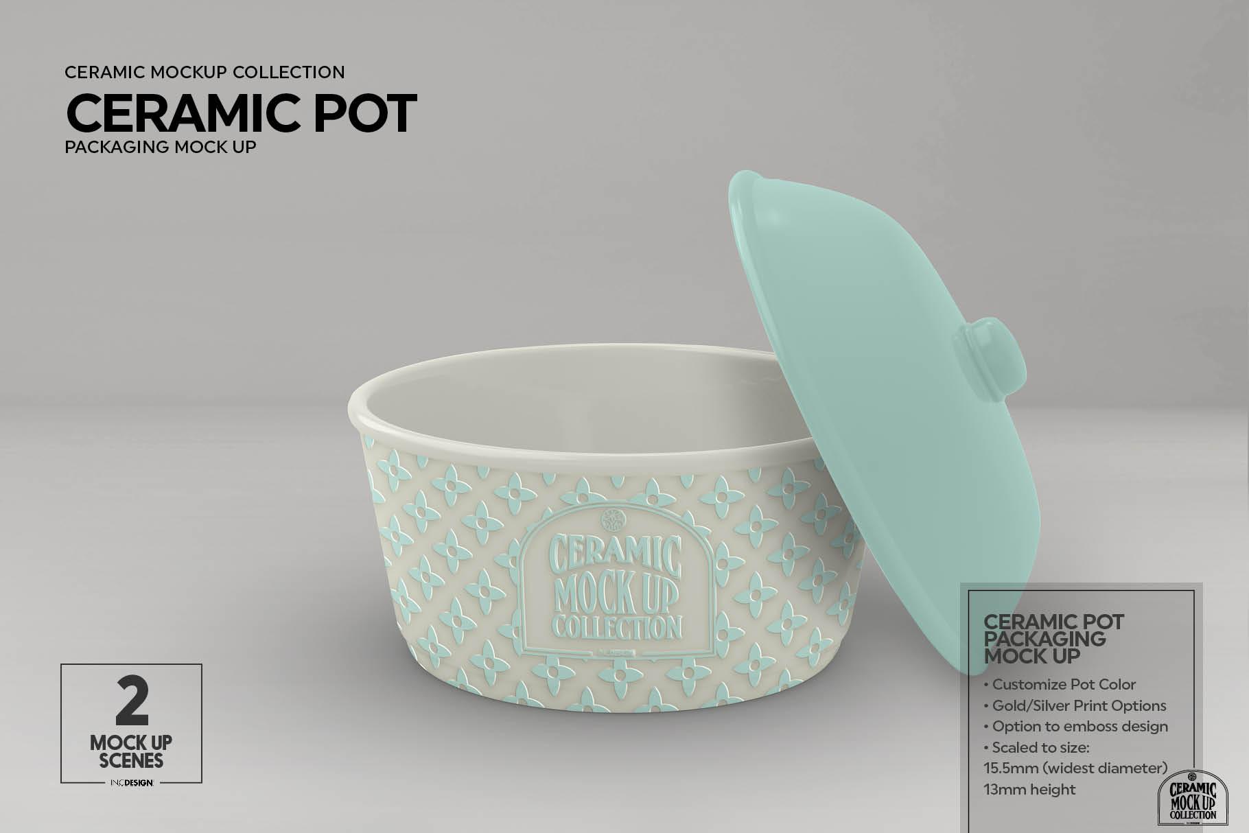 Ceramic Pot Packaging Mock Up example image 9