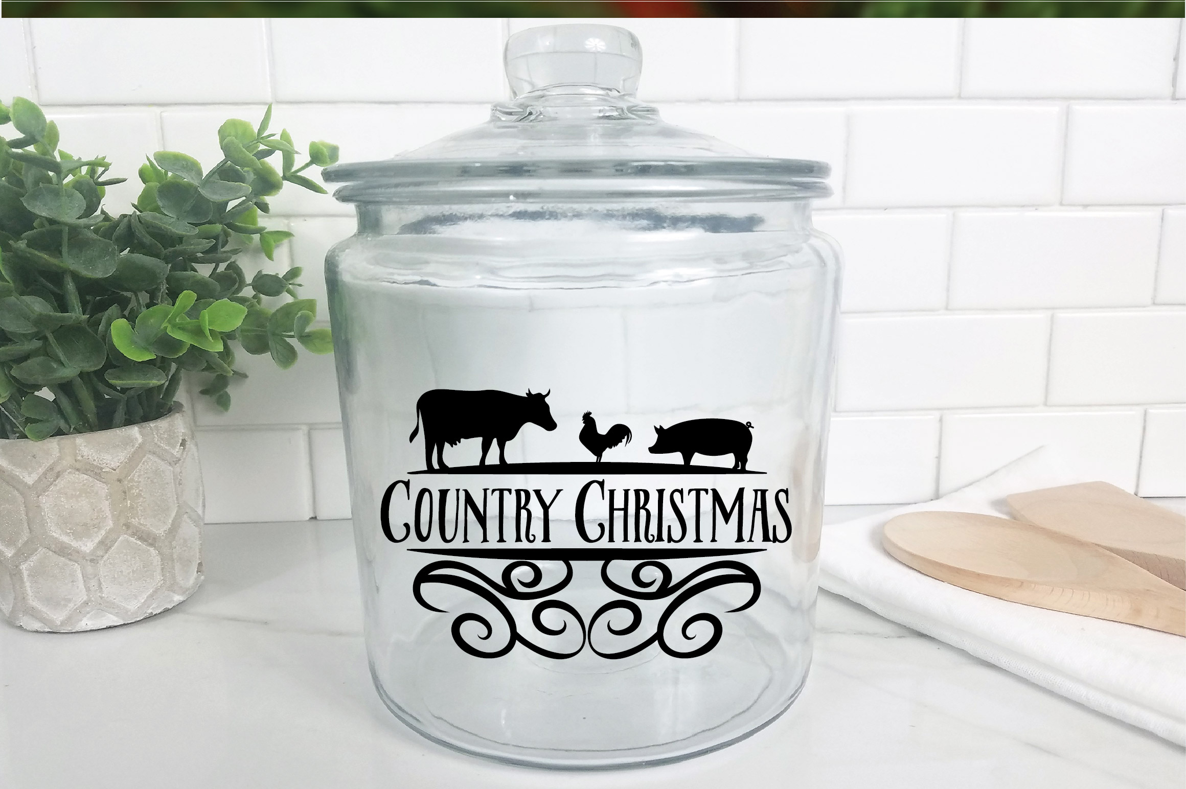 Christmas SVG Cut File - Country Christmas SVG DXF PNG EPS example image 9