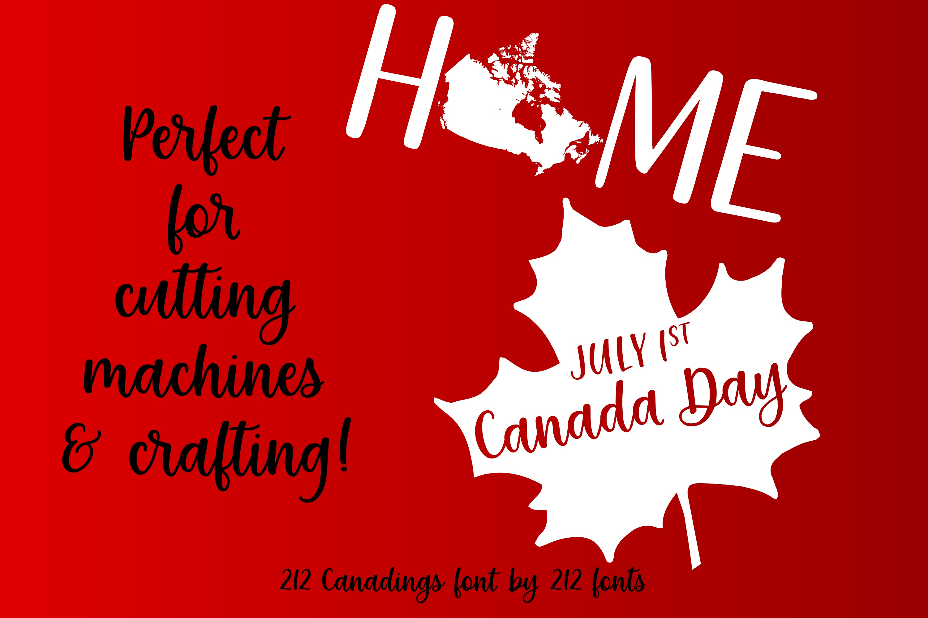 212 Canadings Canada Dingbat Solid and Outline Font example image 5