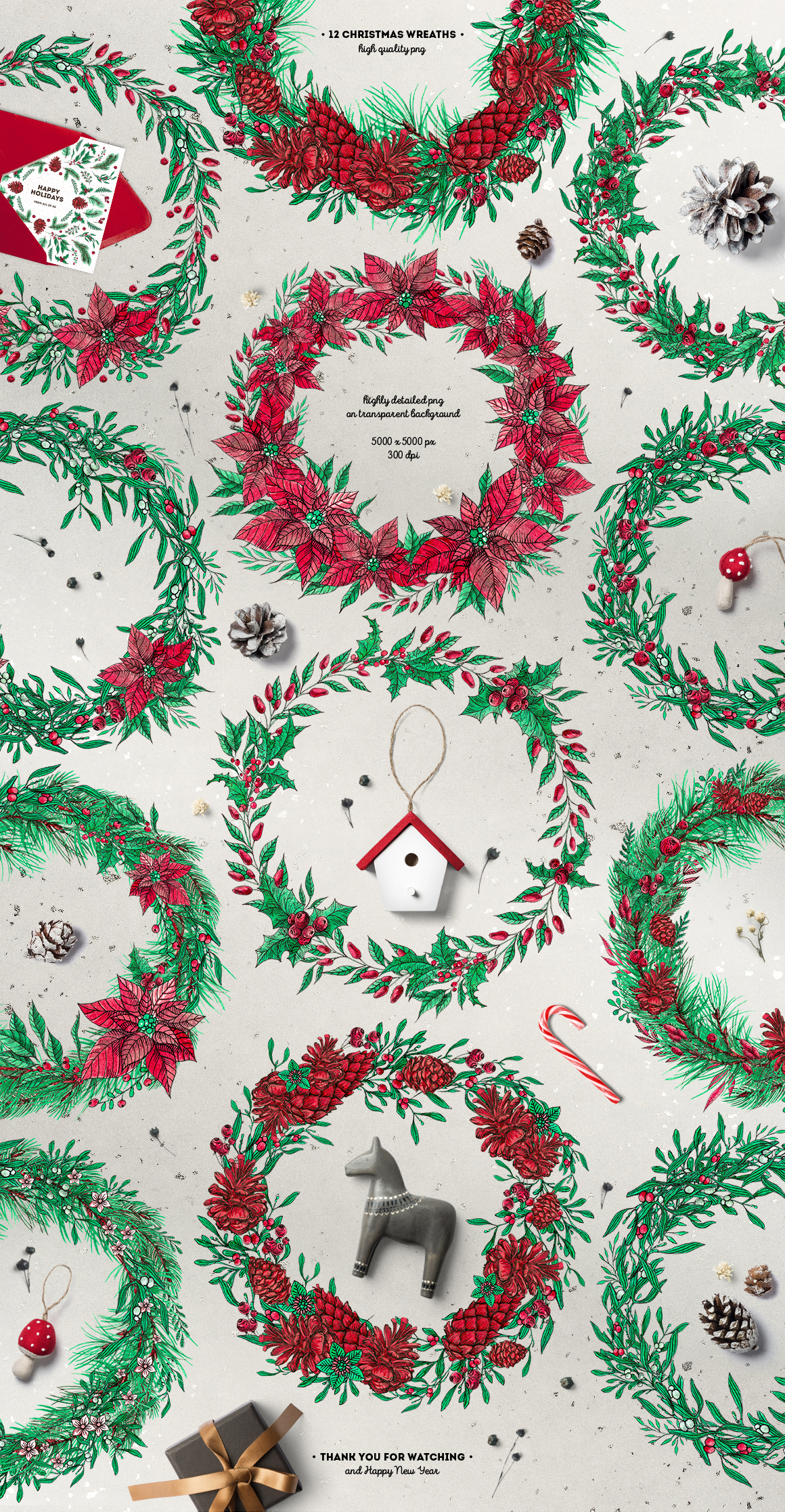 Inky Christmas Huge DIY Set example image 8