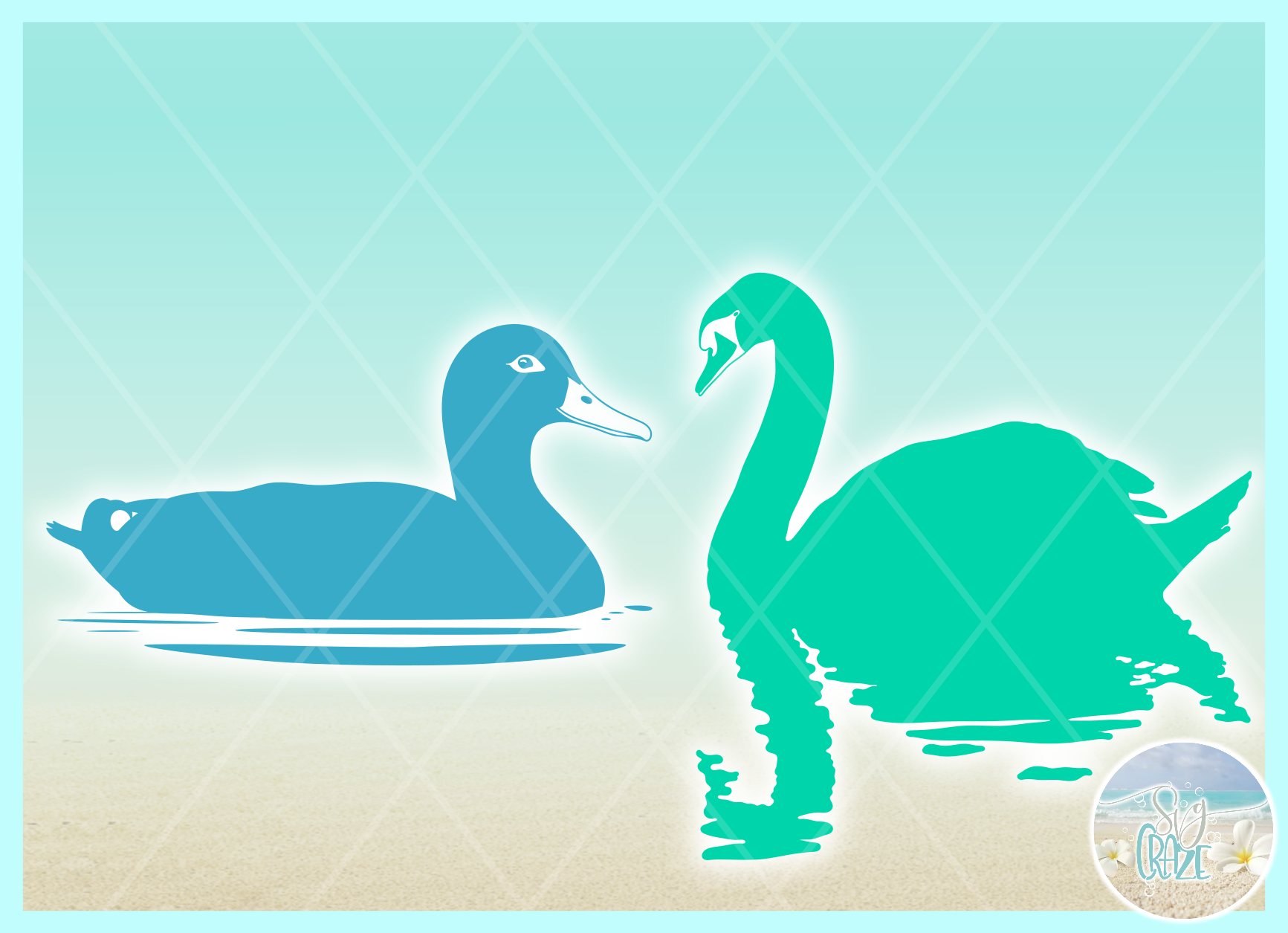 Birds In Water Silhouette Bundle Svg Dxf Eps Png PDF example image 8
