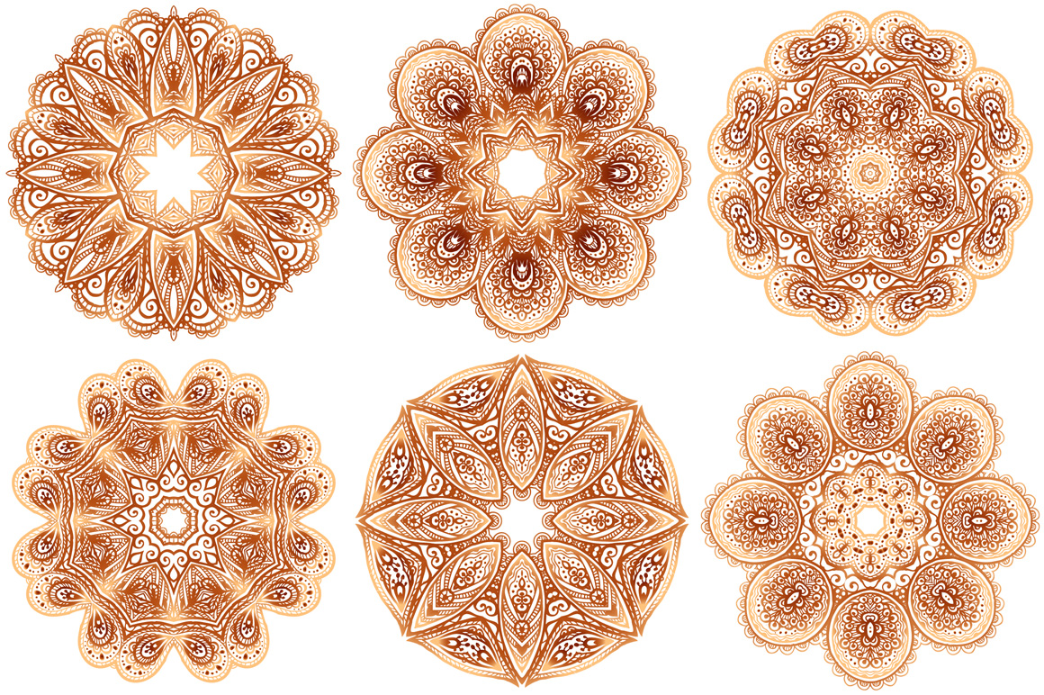 Set of 28 vintage round patterns example image 3