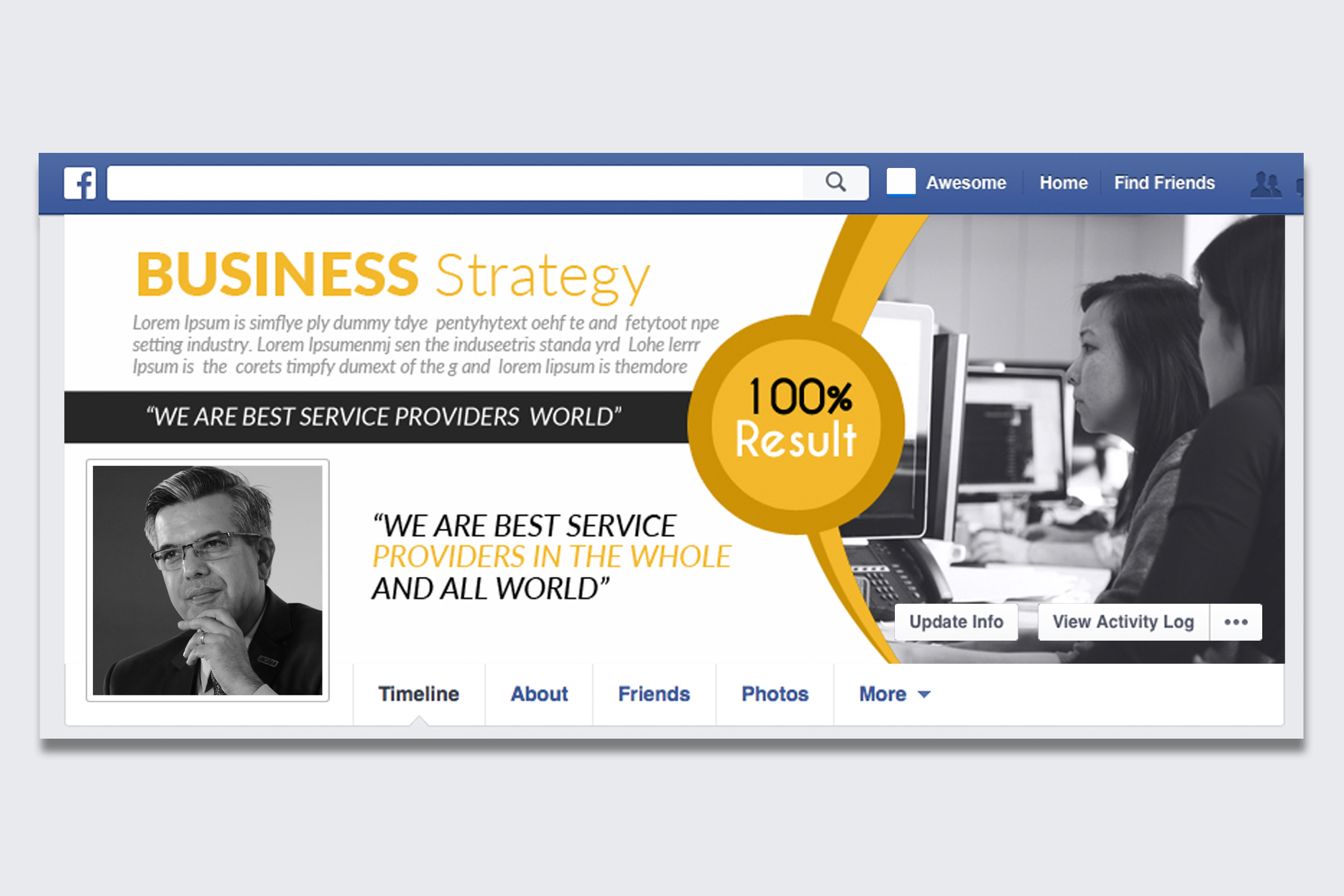 Business Facebook Timelines 07 example image 1