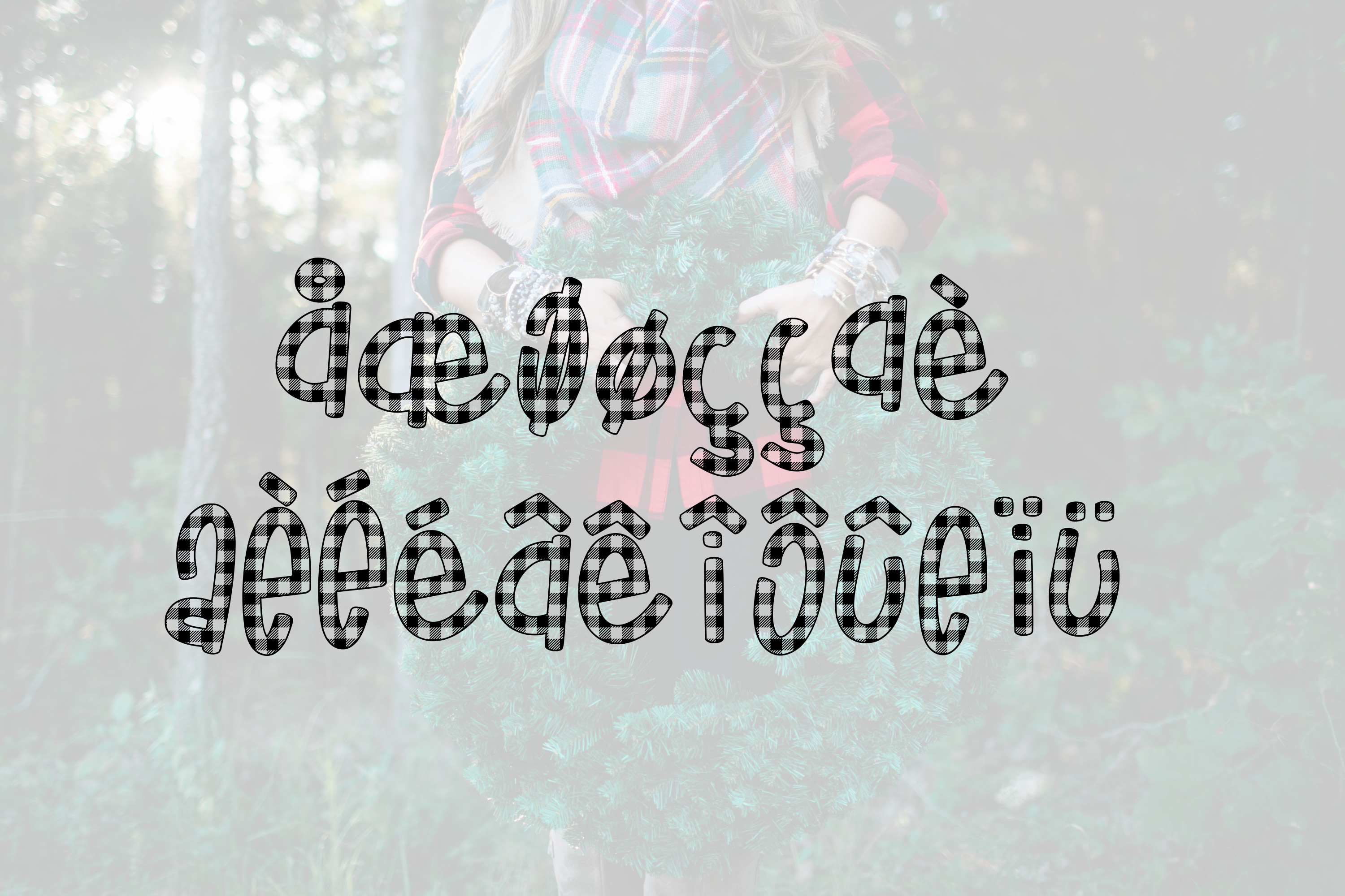Buffalo Jane a Plaid Font example image 4