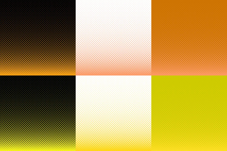 30 Halftone Square Backgrounds AI, EPS, JPG 5000x5000 example image 4