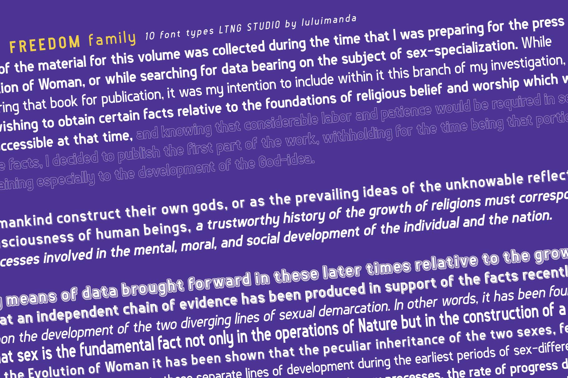 FREEDOM font family example image 5