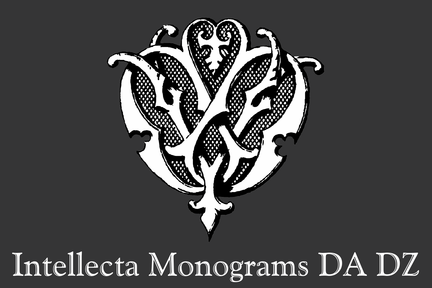Intellecta Monograms DA DZ example image 1