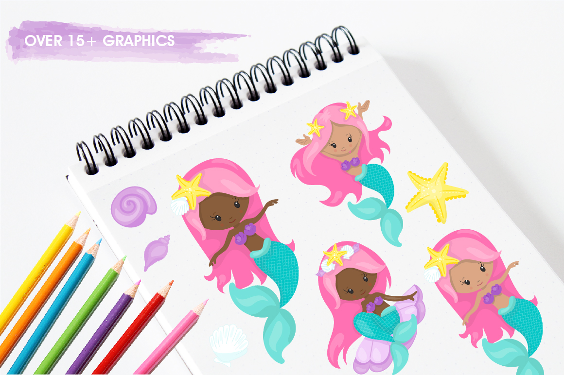 Mermaid Squad graphic and illustrations example image 5