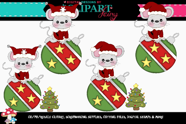Christmas Mice Ornaments 2 example image 1