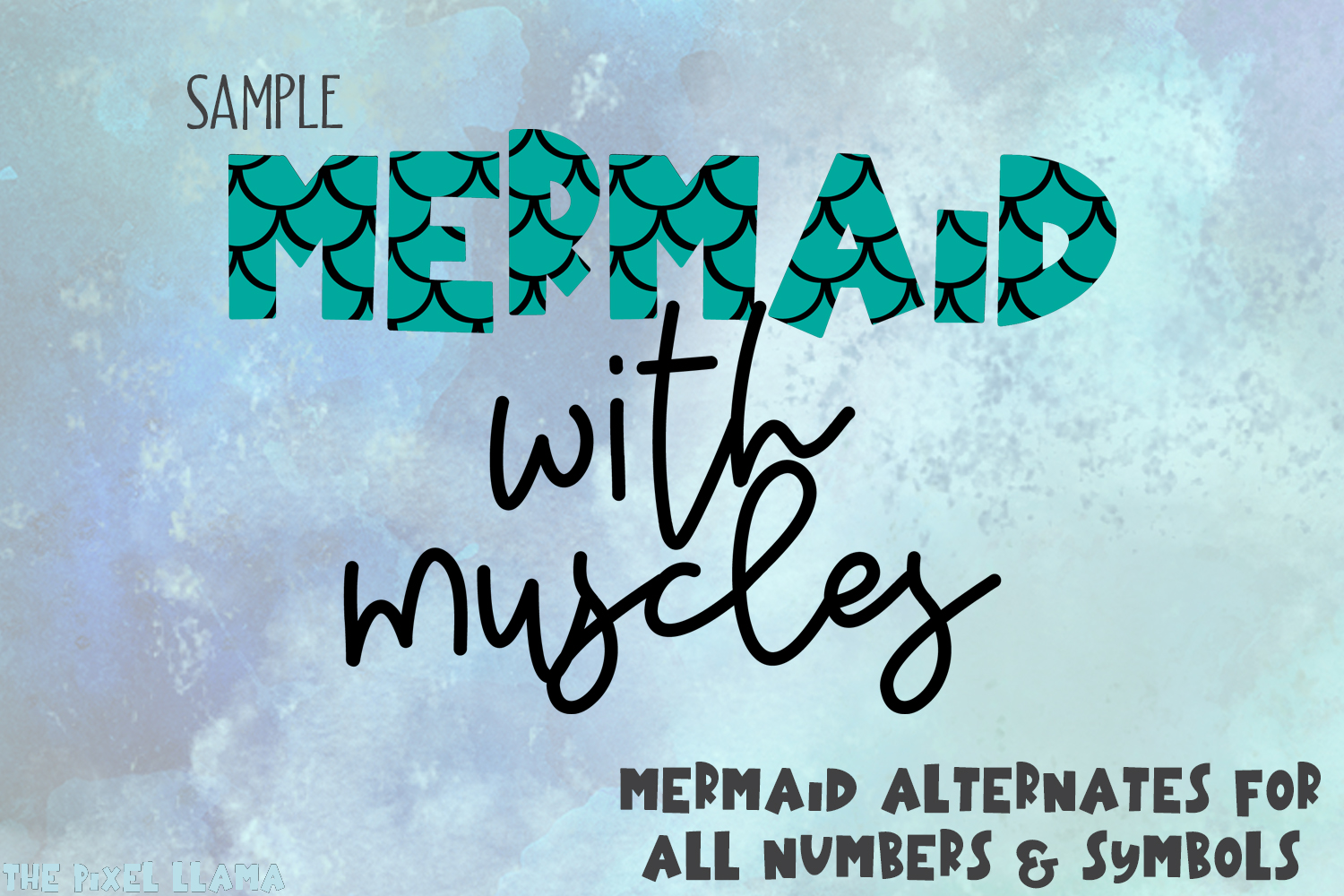 Mermaid Angelfish With Scales Font example image 2