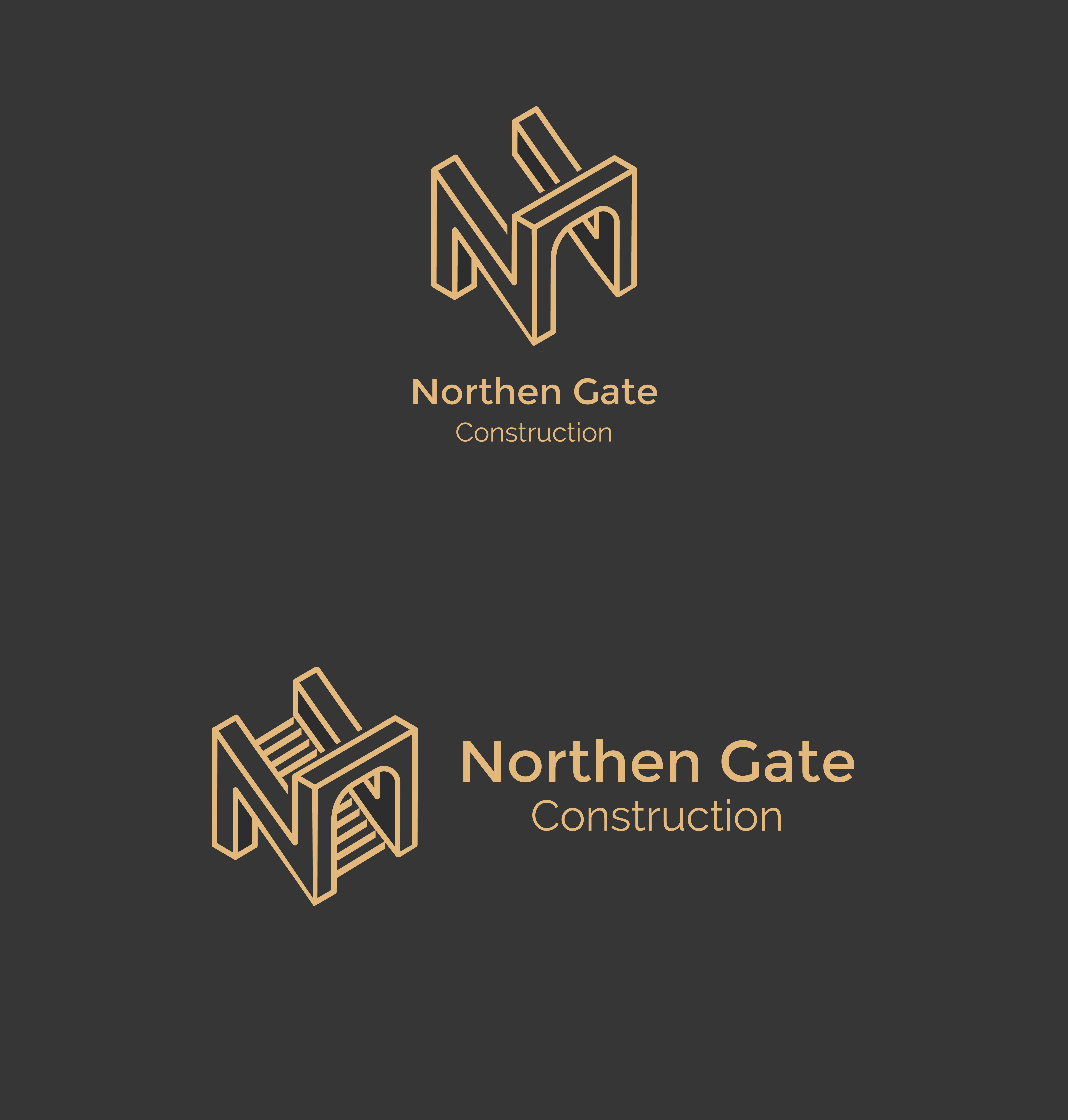 Letter N - Construction Gate Bridge Logo Logo Template example image 10