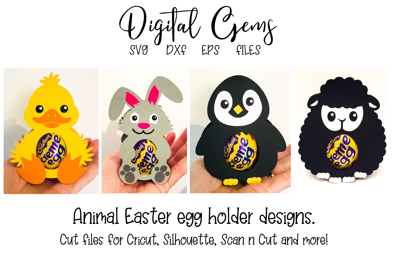 Animal egg holder designs Duck, Rabbit, Penguin and Lamb example image 1