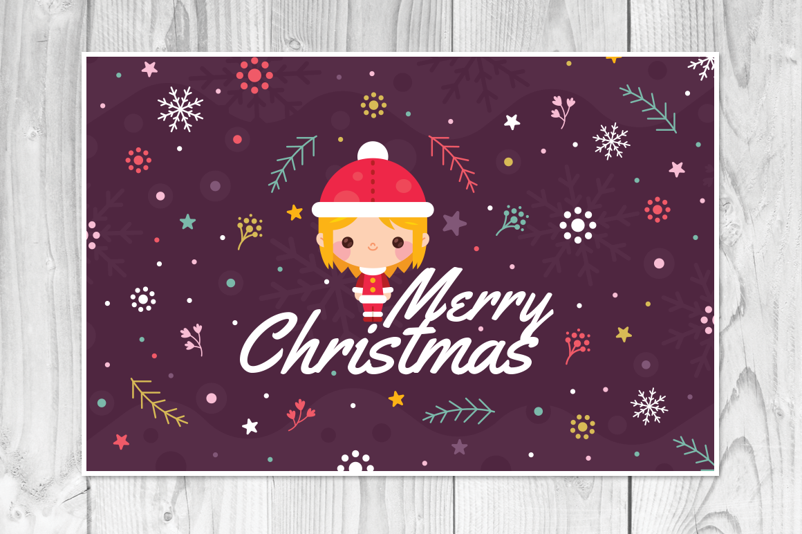 4 Christmas Cards, invitation flyer example image 2