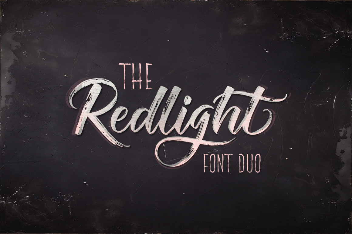 The Redlight Font Duo example image 1