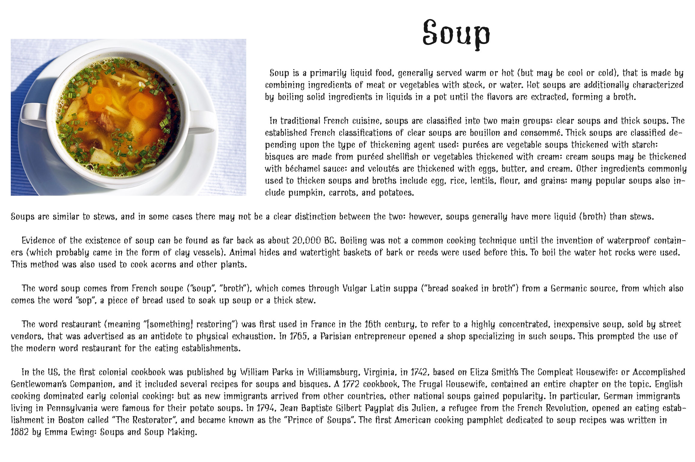 Cream Soup | Sauce Made Font example image 4