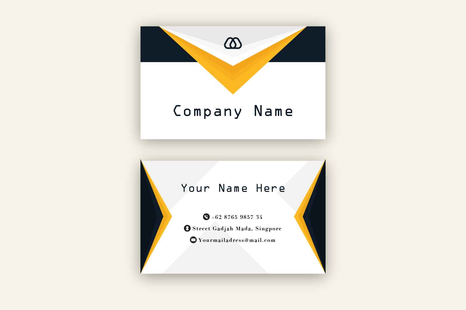 Modern and Simple Business Card Template example image 2