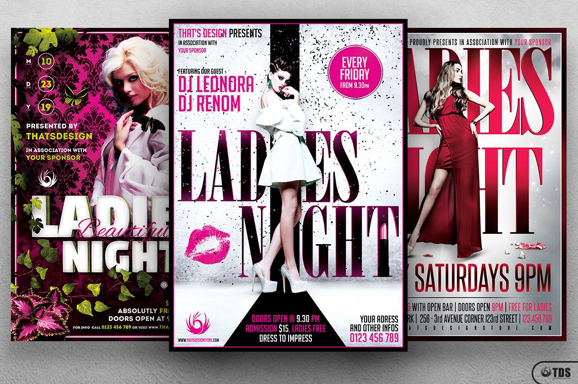 Ladies Night Flyer Bundle V3 example image 2