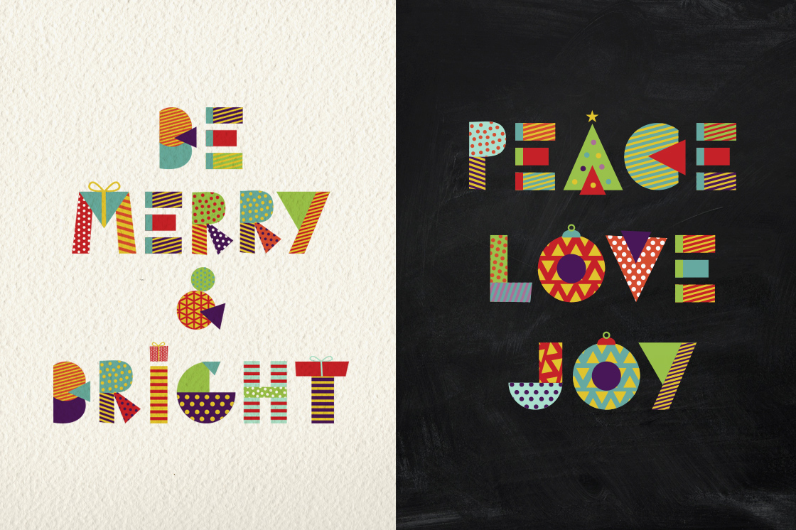 Christmas Geometric typeset + MORE - 90% OFF!  example image 3