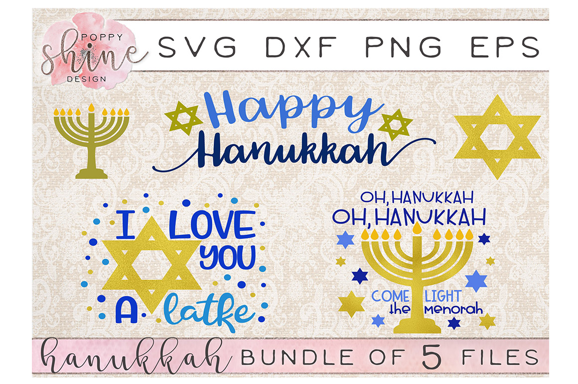 Hanukkah SVG Craft Bundle