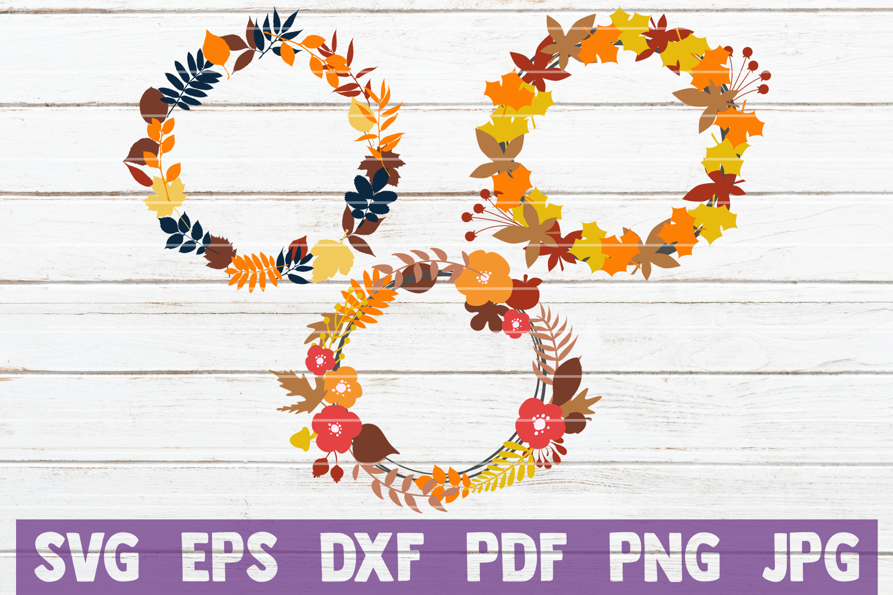 Fall Werath SVG Cut Files example image 1