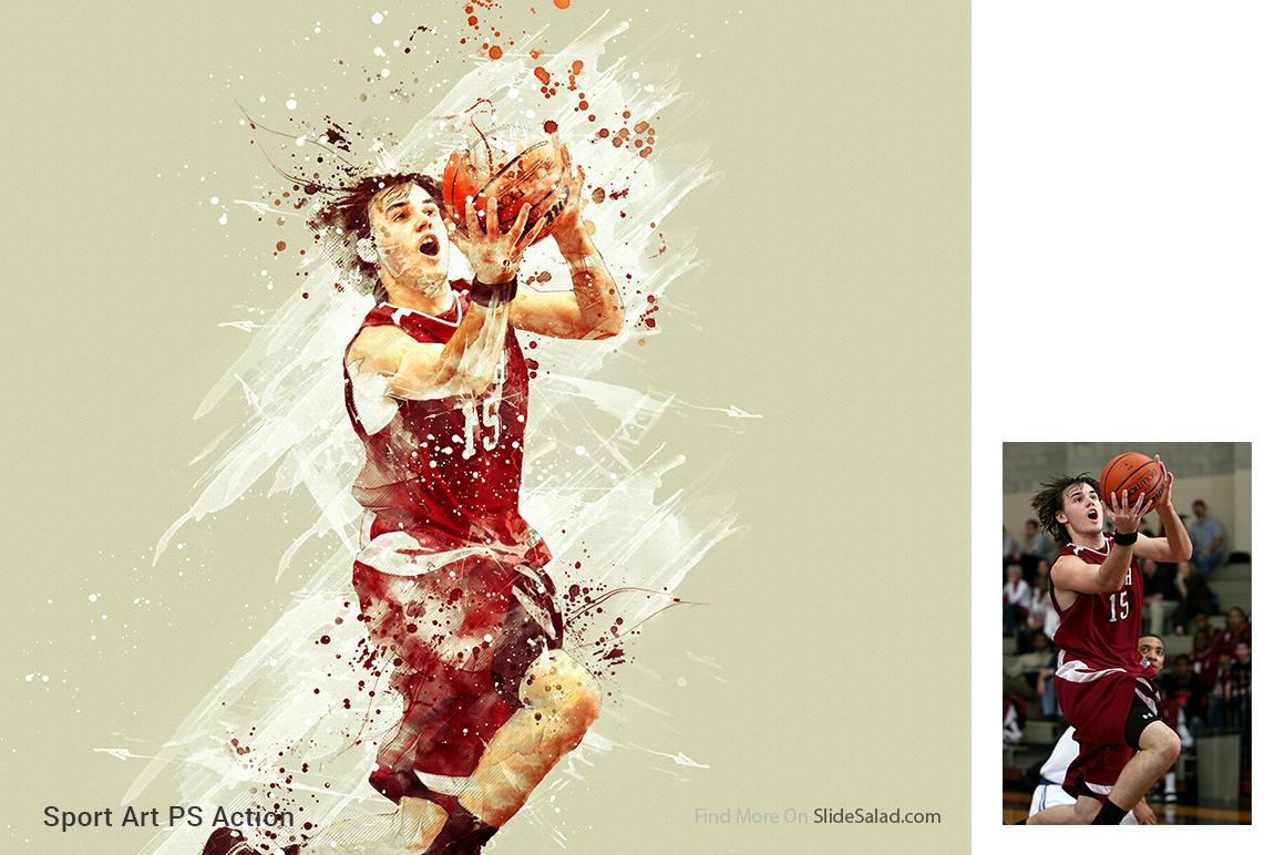 Sports Modern Art Photoshop Action example image 12