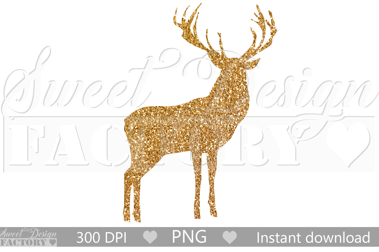 sparkling reindeer clipart example image 1