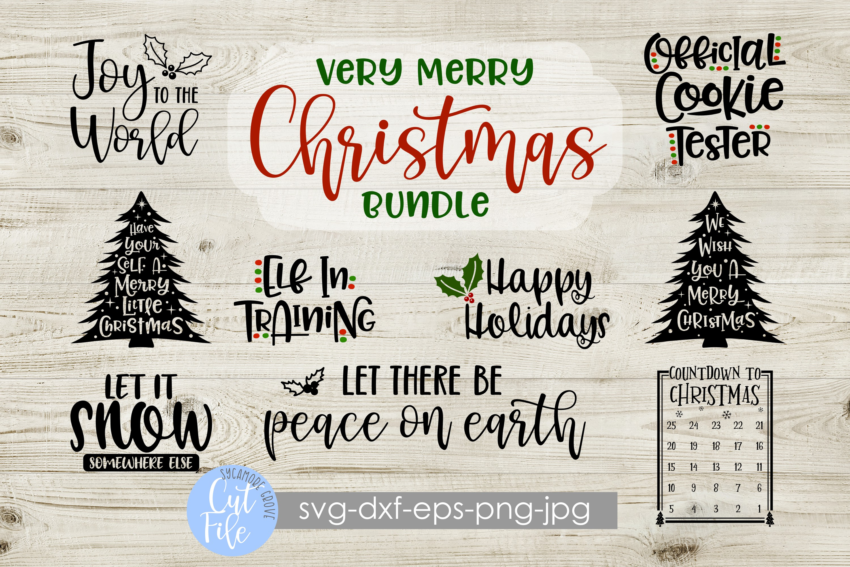 Very Merry Christmas Bundle SVG example image 1