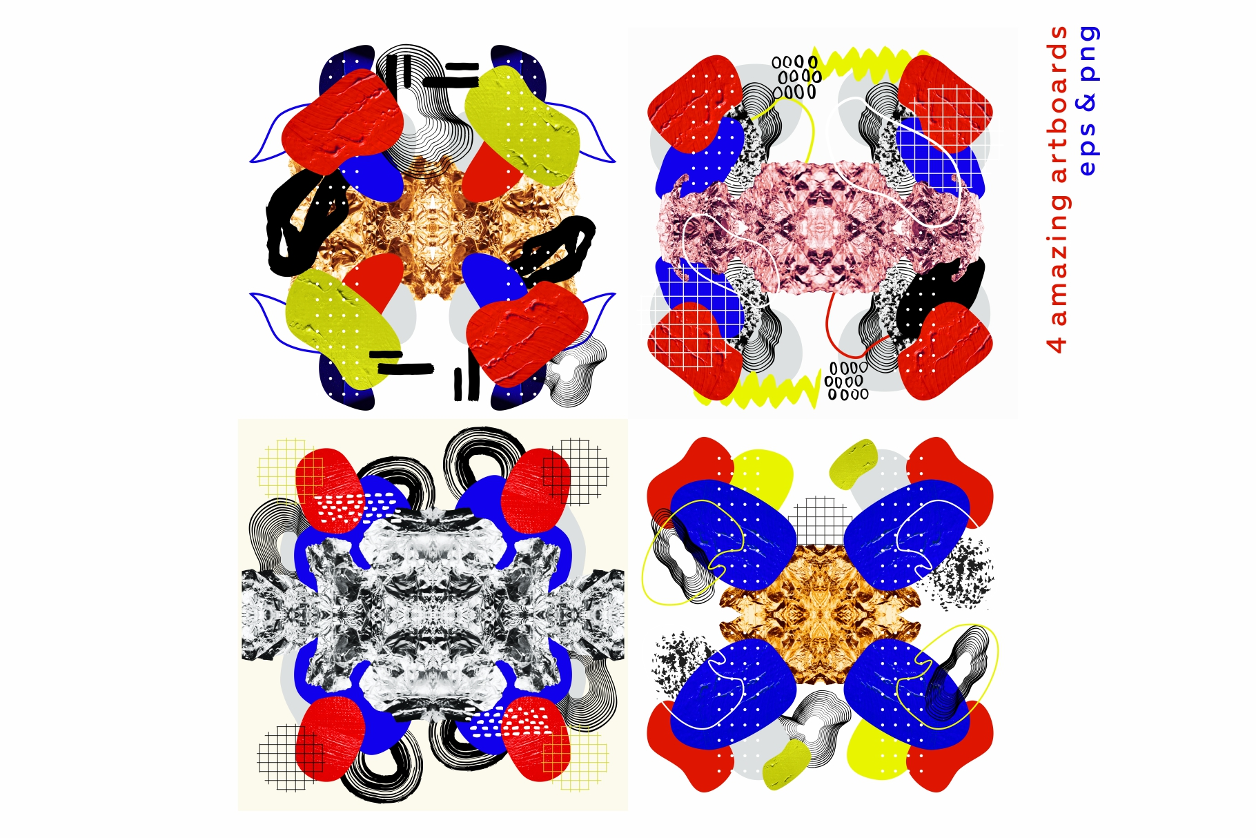 Collage me! Abstract and modern patterns and shapes set. example image 12
