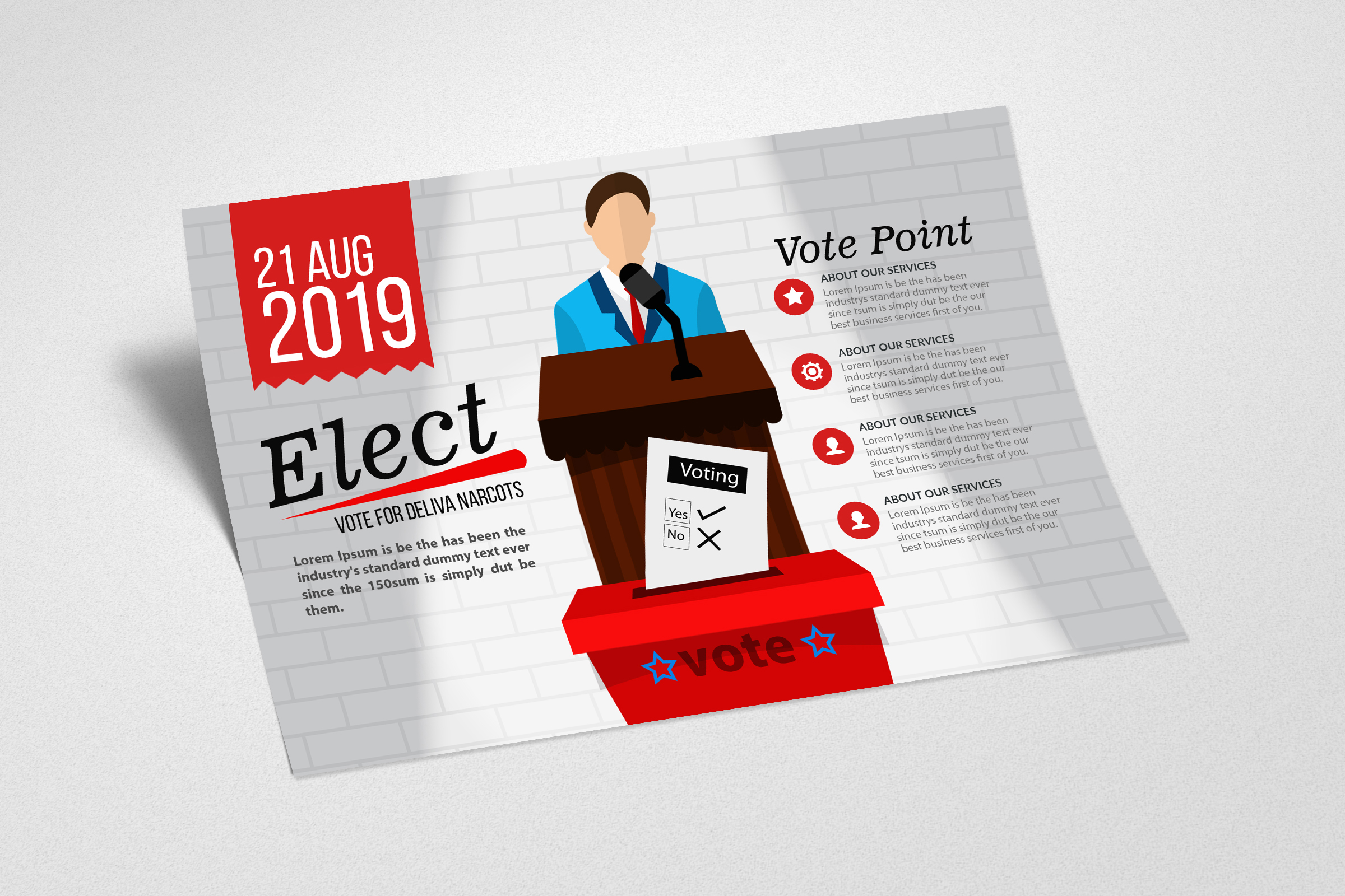 Election Voting Flyer Template example image 2