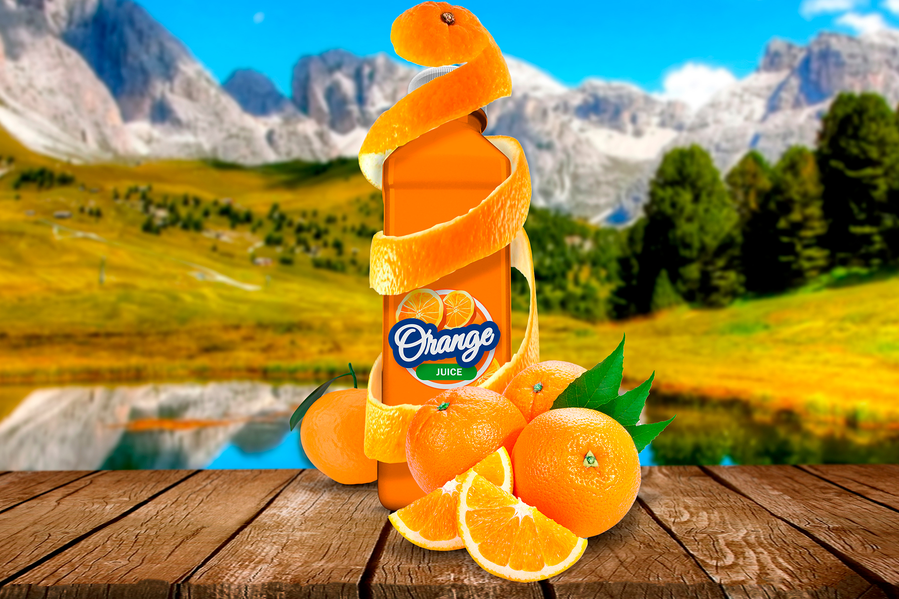 Bottle Juice Mockup Advertising example image 4