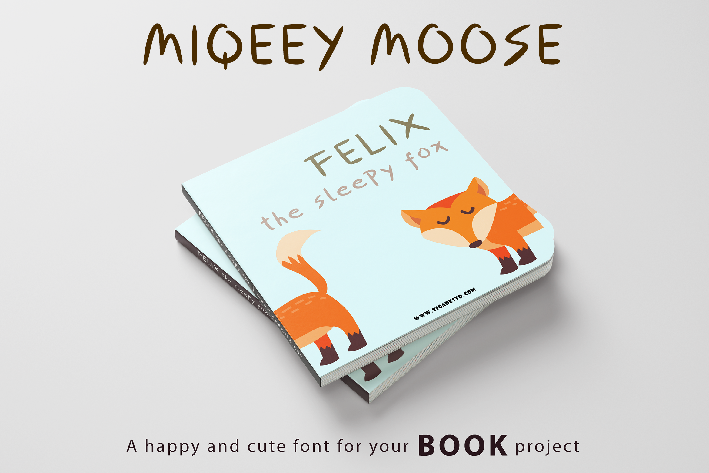 Miqeey Moose Happy Cute Font example image 3
